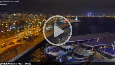 İzmir Karşıyaka Anayasa Meydanı Canlı Mobese İzle