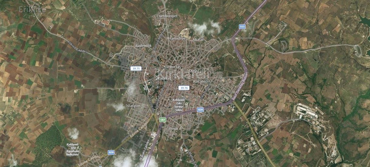 Kırklareli Uydu Görüntüsü Haritası - Canlı Mobese Görüntüleri