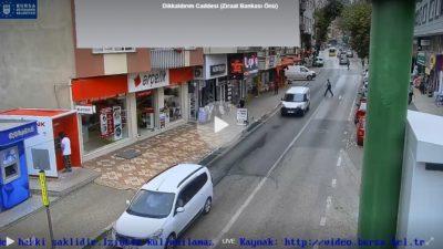 Bursa Dikkaldırım Caddesi Canlı Mobese