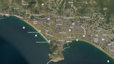 Alanya Uydu Görüntüsü Haritası, Antalya