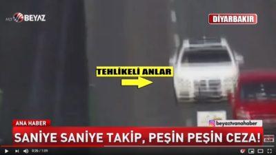 Diyarbakırda Makas Atan Sürücü Mobese Kameraları İle Yakalandı