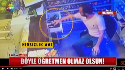Tekirdağda Marketten Para Çalan Öğretmen Mobese Kameralarına Yakalandı