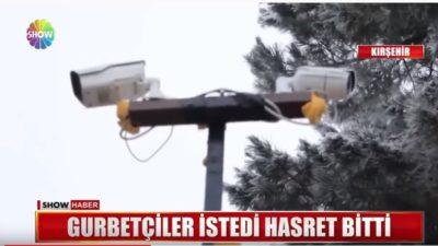 Kırşehir İsahocalı Köyü Mobese İle Canlı Yayına Geçti